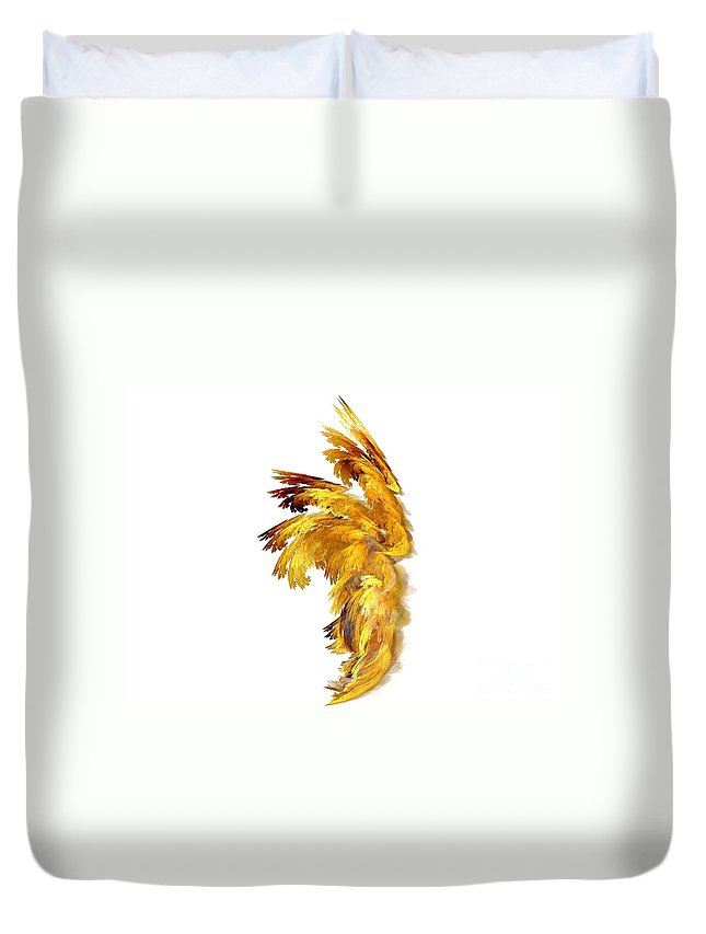 Apophysis Duvet Cover featuring the digital art Angel Wings by Kim Sy Ok