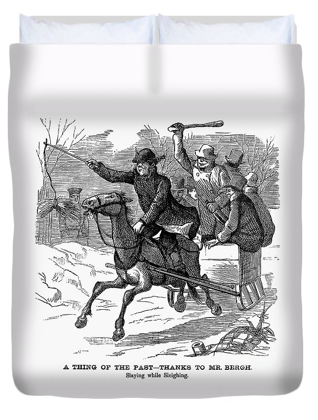 1877 Duvet Cover featuring the photograph Animal Cruelty, 1877 by Granger