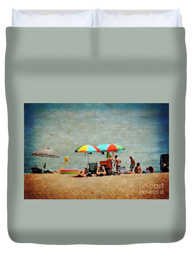 Beach Duvet Cover featuring the photograph Another Day At The Beach by Mary Machare