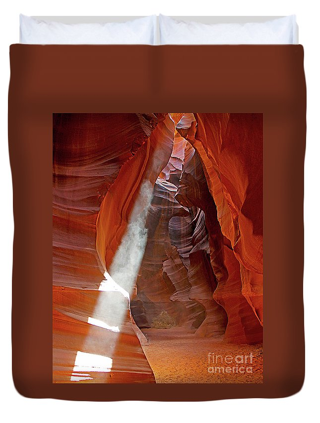 Antelope Canyon Duvet Cover featuring the photograph Antelope Canyon by Jack Schultz