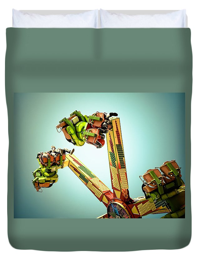 Fun Duvet Cover featuring the photograph Anti-gravity by Wayne Sherriff
