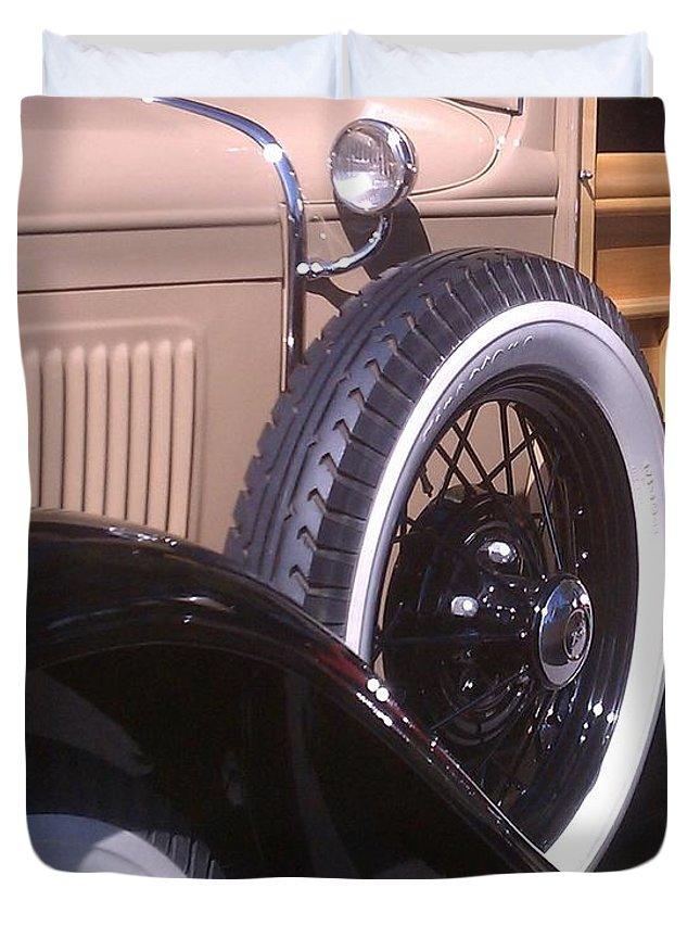 Classic Duvet Cover featuring the photograph Antique Classic Vintage Car by Sven Migot