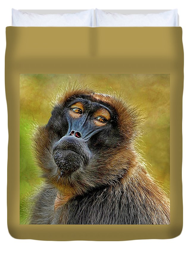 Ape Duvet Cover featuring the photograph Ape by Dave Mills