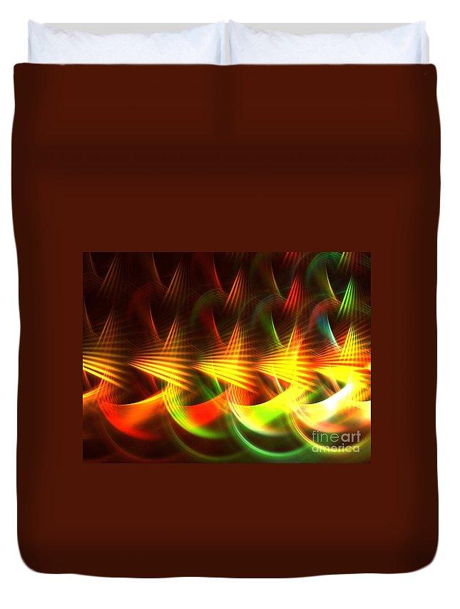 Apophysis Duvet Cover featuring the digital art Apex by Kim Sy Ok