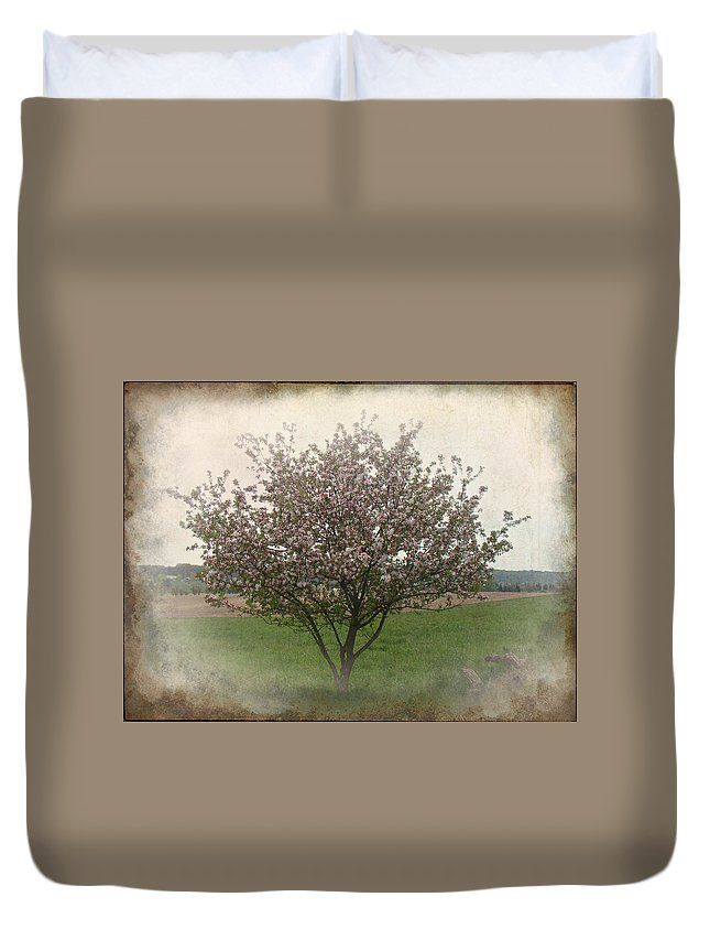Apple Duvet Cover featuring the photograph Apple Blossoms by Mother Nature