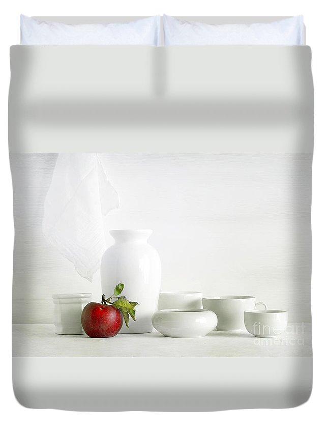 Apple Duvet Cover featuring the photograph Apple by Matild Balogh