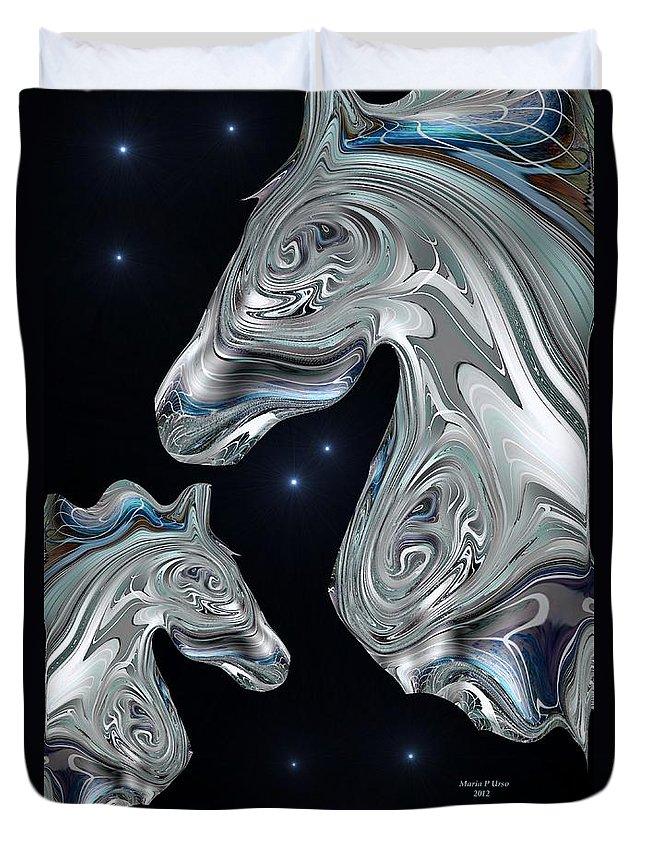 Arabian Duvet Cover featuring the digital art Arabian Nights by Maria Urso