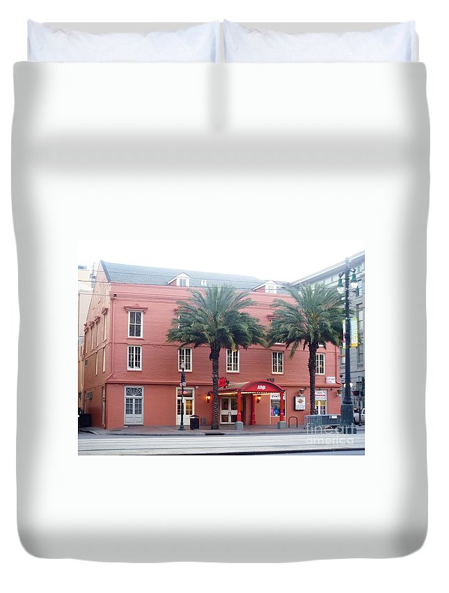 Arby's Duvet Cover featuring the photograph Arby's At Dawn by Alys Caviness-Gober
