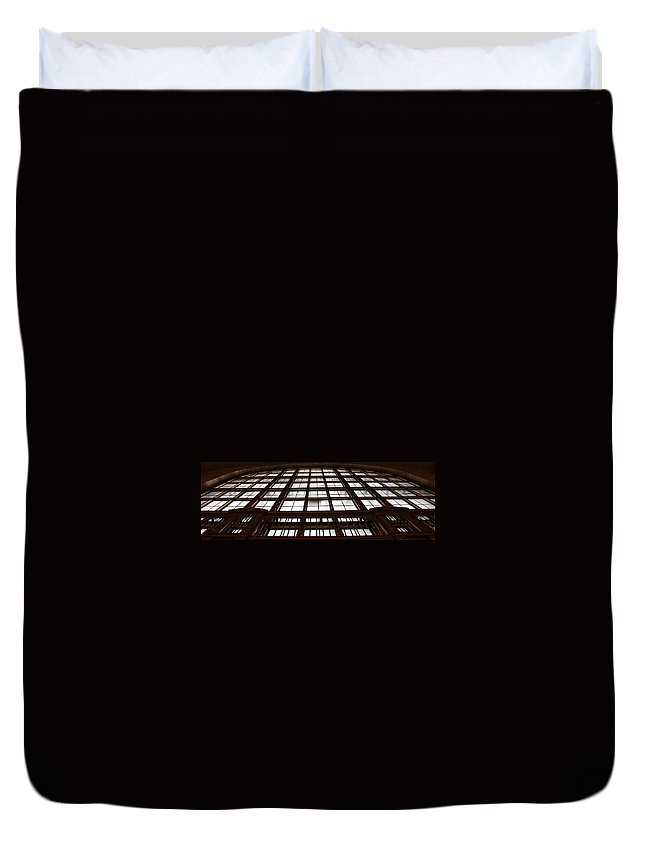 Window Duvet Cover featuring the photograph Arched Window by Andrew Fare