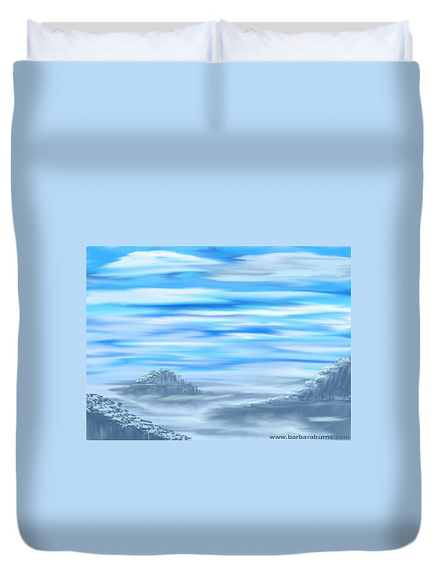 Digital Painting Duvet Cover featuring the digital art Arctic Melody by Barbara Burns