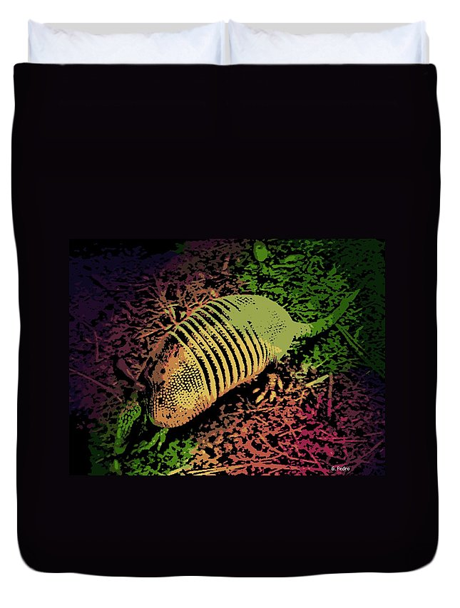 Armadillo Duvet Cover featuring the photograph Armadillo by George Pedro