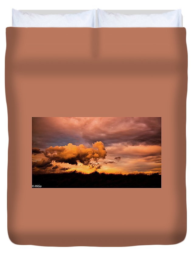 Cloud Duvet Cover featuring the photograph Armageddon by Michael Goyberg