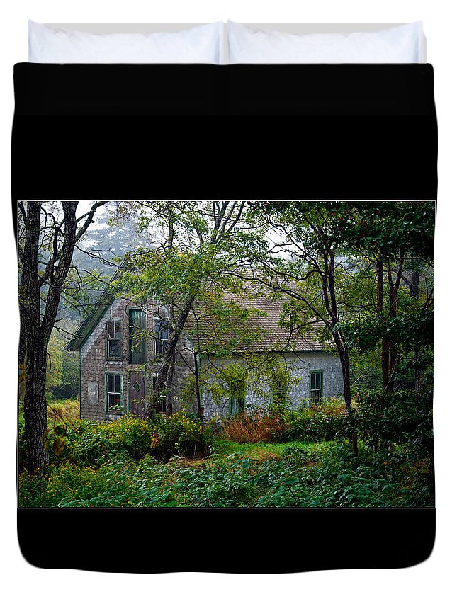 House Duvet Cover featuring the photograph Artist Hideout 2 by Glenn Gordon