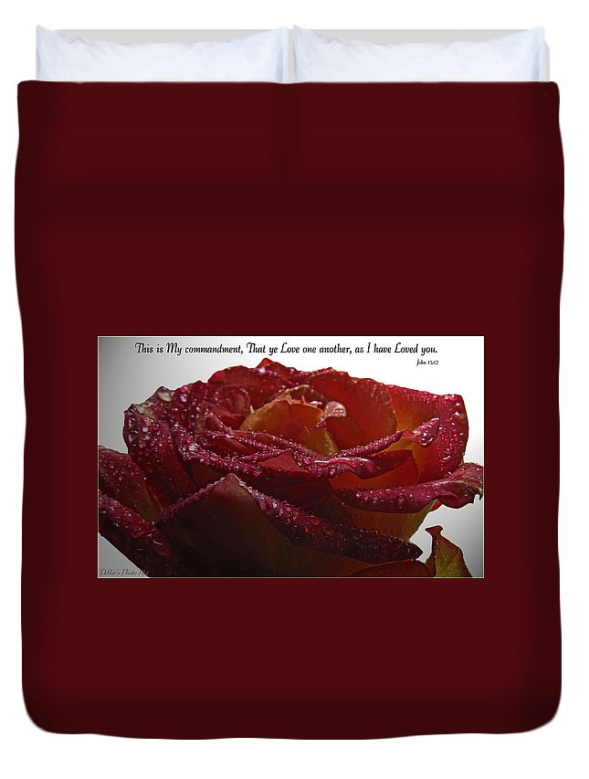 Nature Duvet Cover featuring the photograph As I Have Loved You by Debbie Portwood