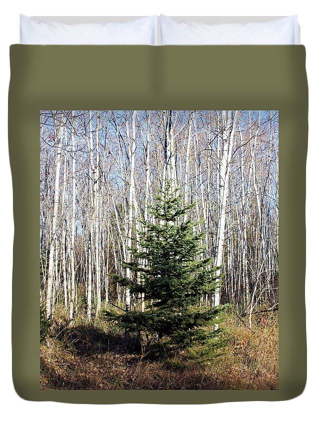 Tree Duvet Cover featuring the photograph As Lonely As A Tree by Pat Purdy