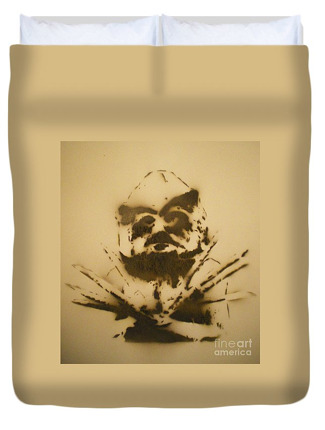 Asaro Mudman Duvet Cover featuring the painting Asaro Mudman by Barry Boom