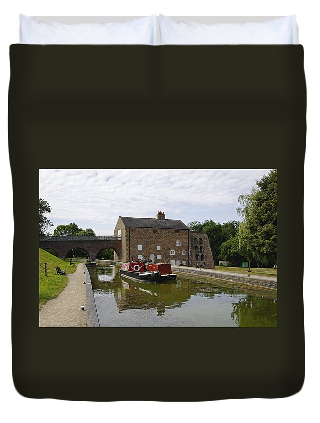 Water Duvet Cover featuring the photograph Ashby Canal At Moira Furnace by Rod Johnson
