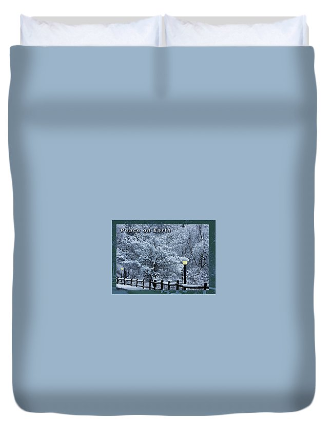 Christmas Duvet Cover featuring the photograph Asheville Peace Card by John Haldane