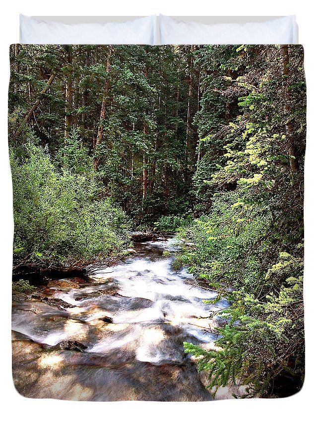 Endre Duvet Cover featuring the photograph Aspen Stream by Endre Balogh