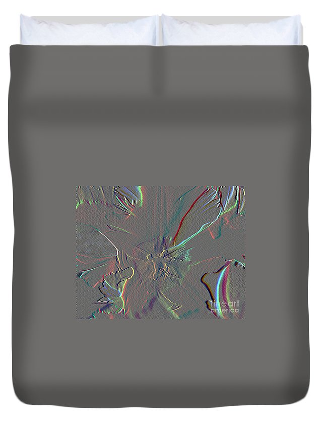 Mixed Media Duvet Cover featuring the mixed media At The Center Of It All by Patricia Griffin Brett