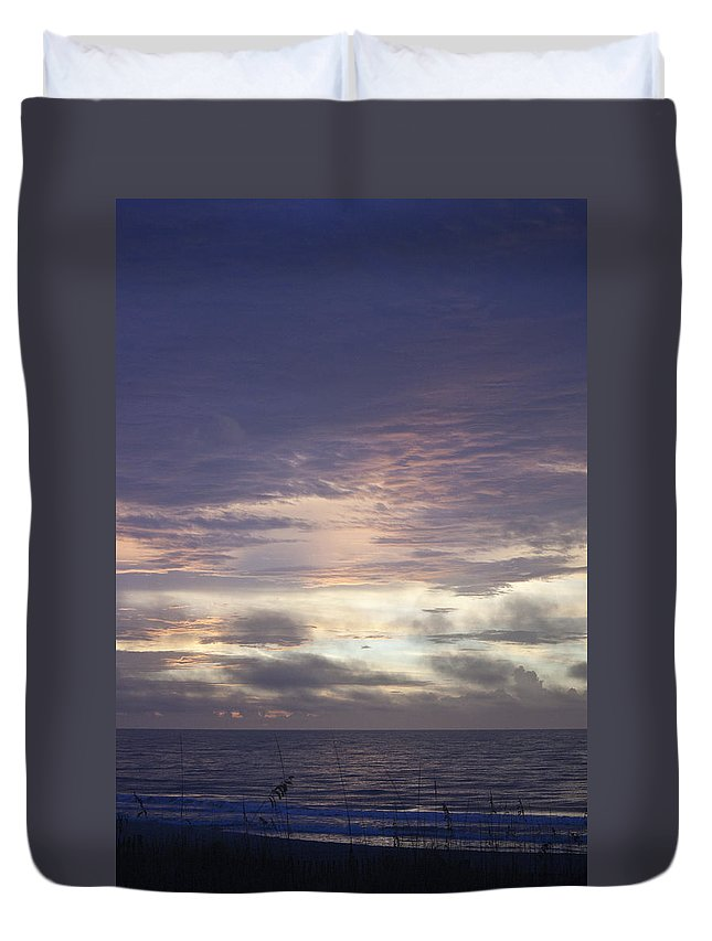 Sunrise Duvet Cover featuring the photograph Atlantic Ocean Sunrise 1 by Teresa Mucha