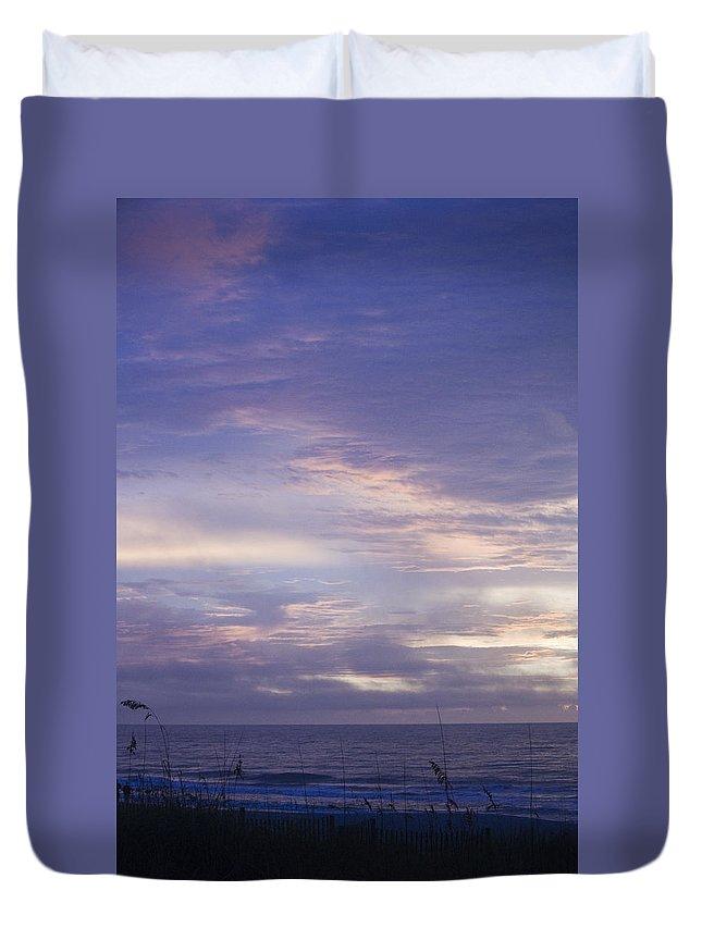 Sunrise Duvet Cover featuring the photograph Atlantic Ocean Sunrise 3 by Teresa Mucha