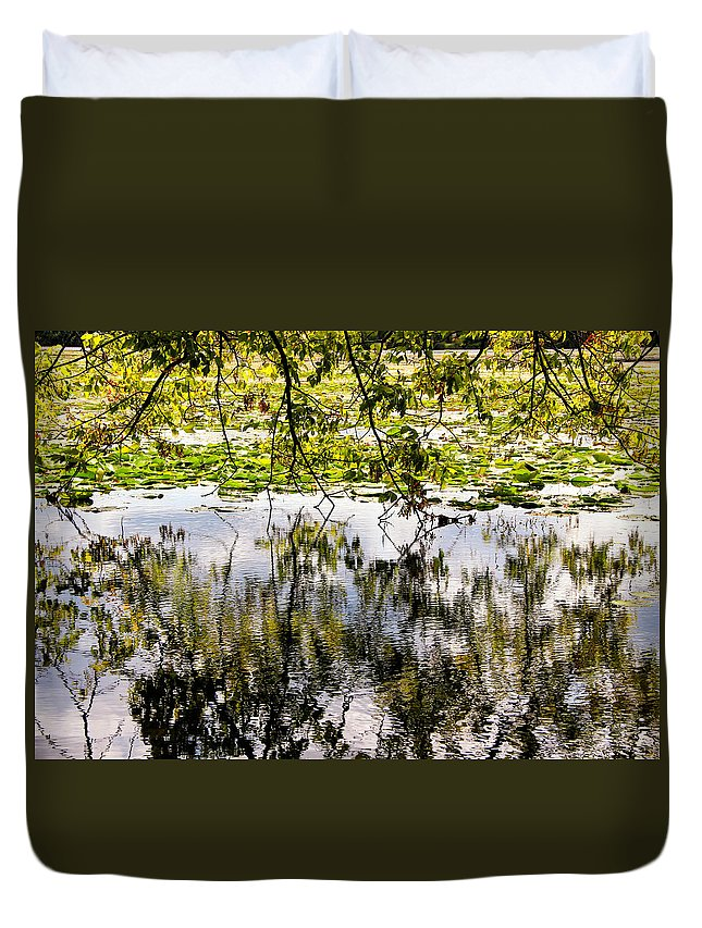 August Reflections Duvet Cover featuring the photograph August Reflections by Rachel Cohen
