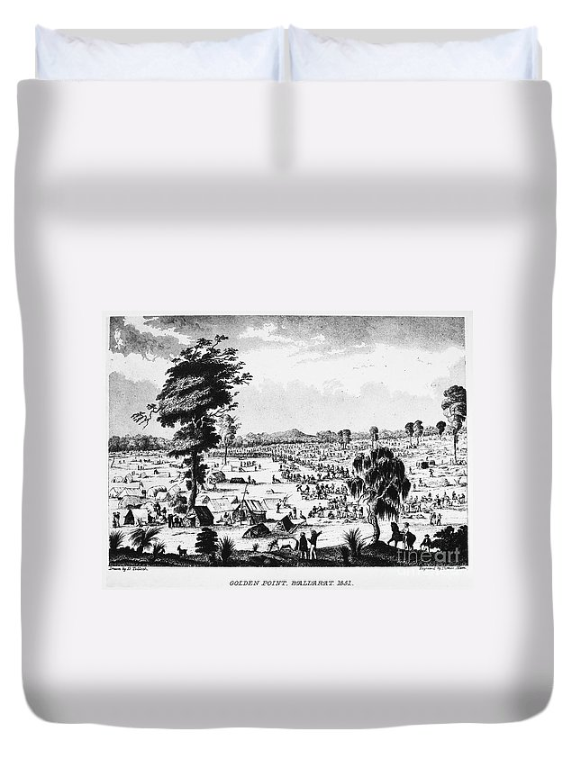 1851 Duvet Cover featuring the photograph Australia: Gold Rush, 1851 by Granger