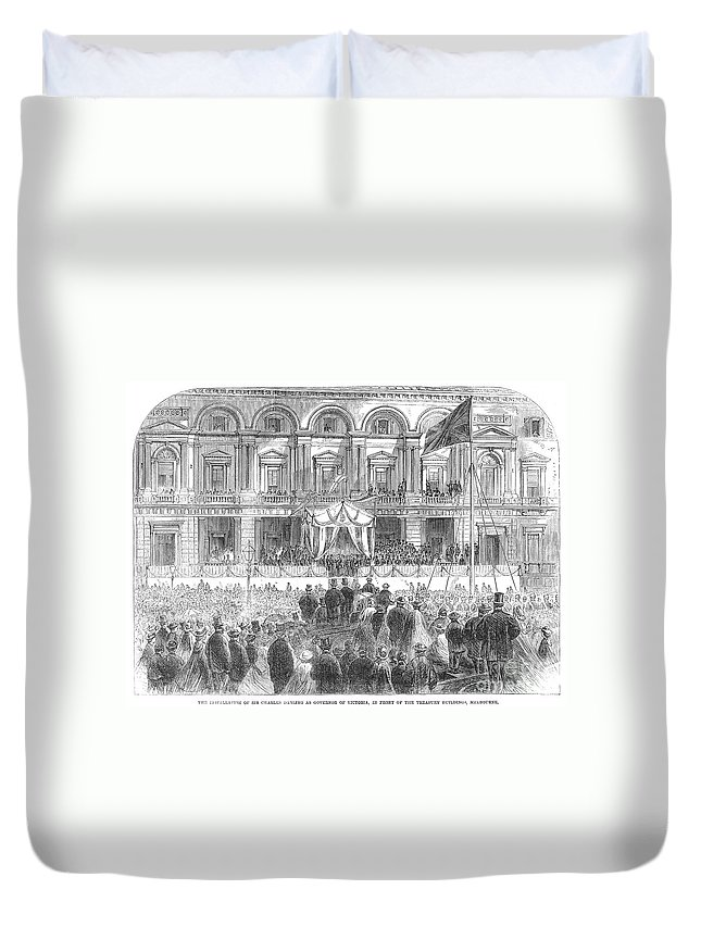 1863 Duvet Cover featuring the photograph Australia: Melbourne, 1863 by Granger