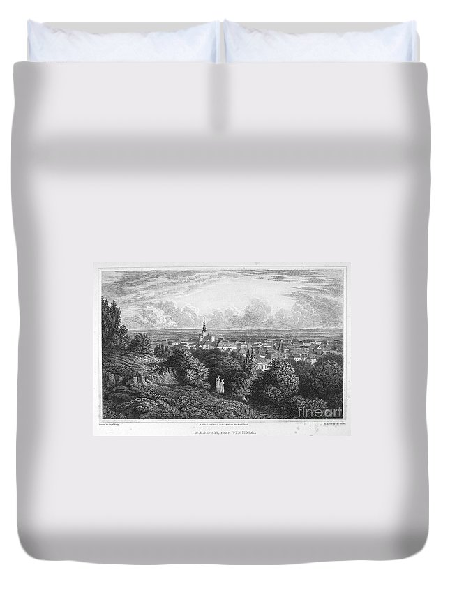 1822 Duvet Cover featuring the photograph Austria: Baaden, 1822 by Granger