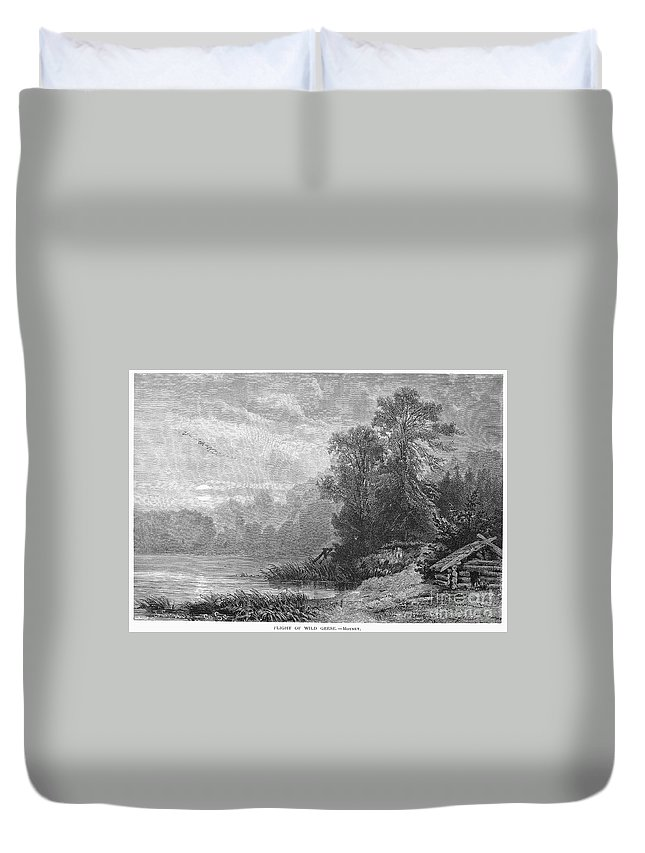 1873 Duvet Cover featuring the photograph Autumn, 1873 by Granger