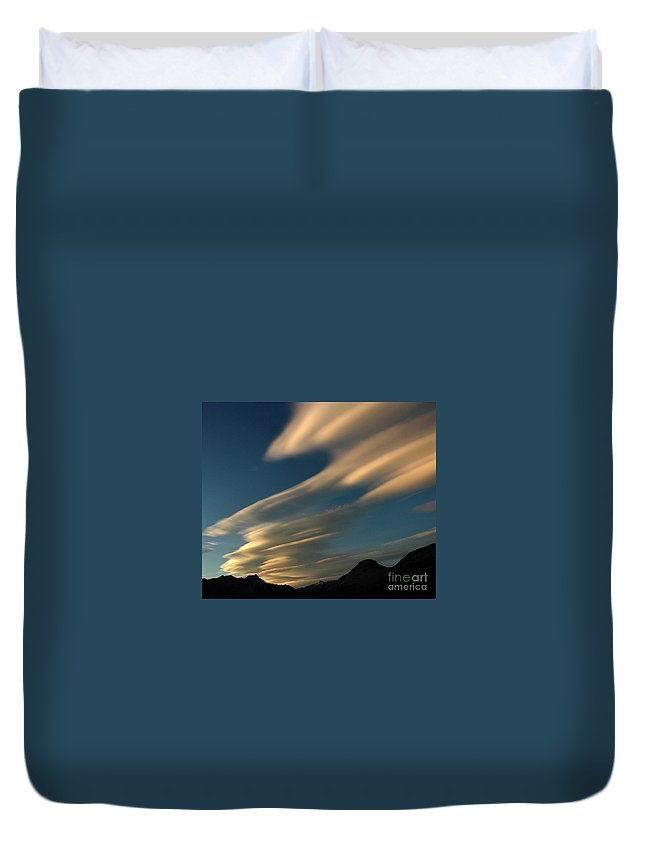 Autumn Duvet Cover featuring the photograph Autumn Clouds Jasper 1 by Vivian Christopher