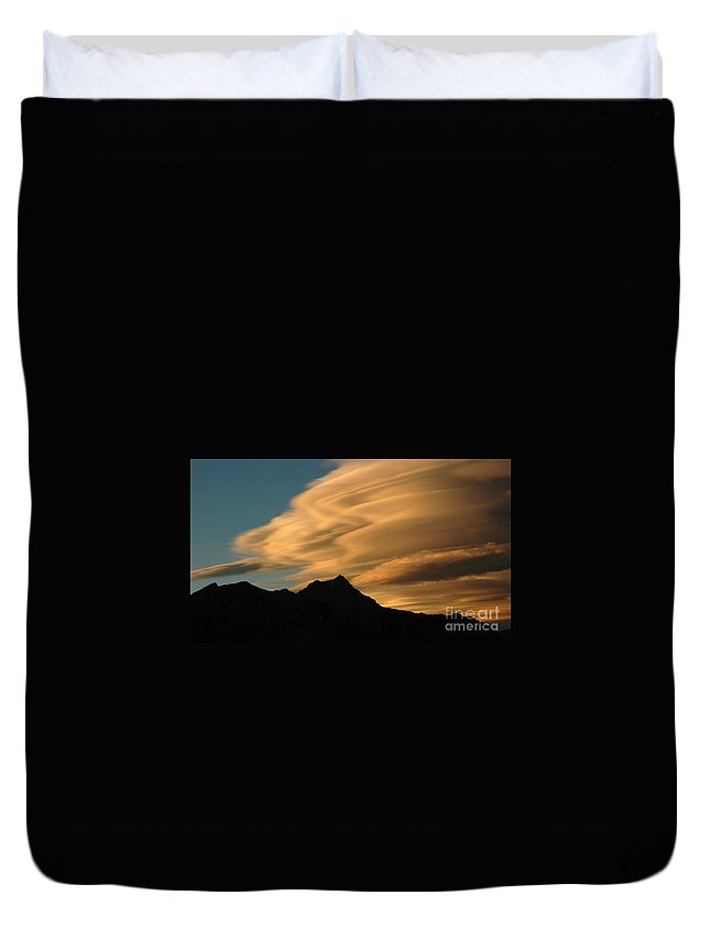 Autumn Duvet Cover featuring the photograph Autumn Clouds Jasper 2 by Vivian Christopher