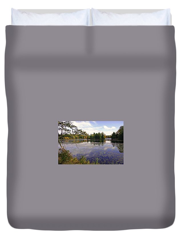 Autumn Duvet Cover featuring the photograph Autumn Lake by David Rucker
