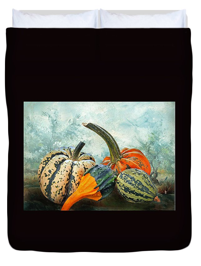 Autumn Duvet Cover featuring the photograph Autumnal by Manfred Lutzius