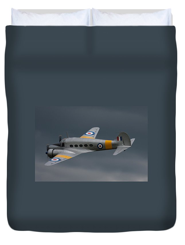 Avro Duvet Cover featuring the photograph Avro Anson 2 by Ken Brannen