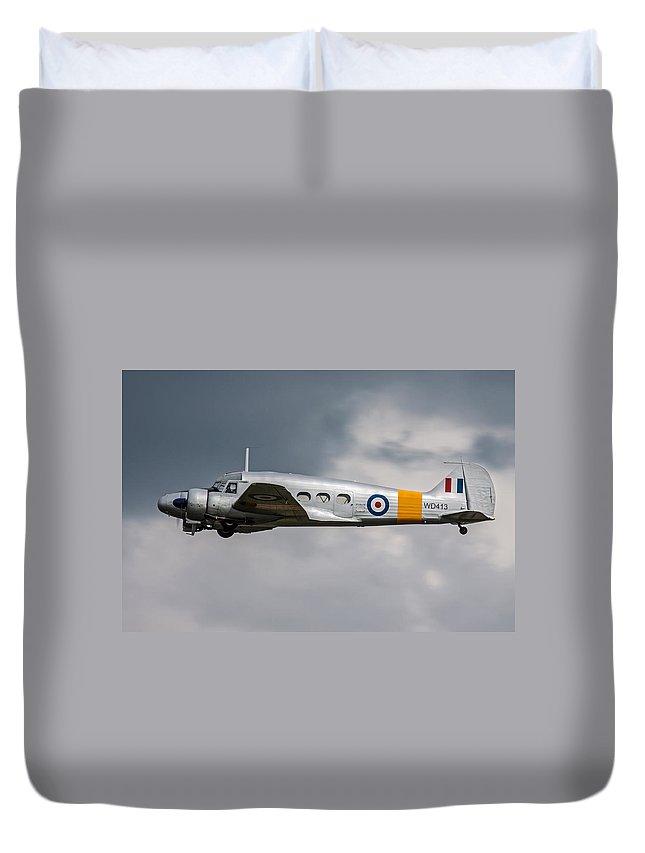Avro Duvet Cover featuring the photograph Avro Anson 3 by Ken Brannen