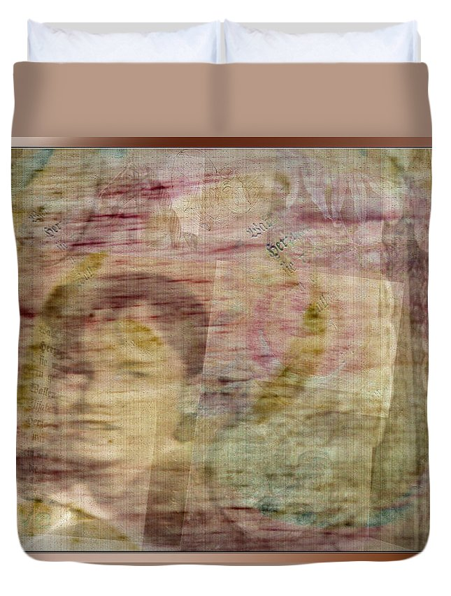 Collage Duvet Cover featuring the photograph Azil by Marie Jamieson