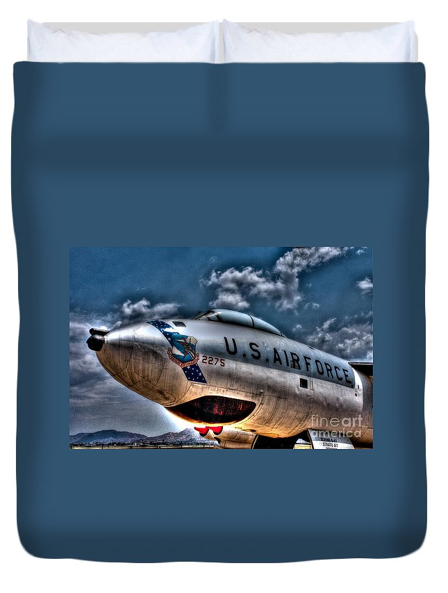 Boeing B-47 Stratojet Duvet Cover featuring the photograph B-47 Stratojet by Tommy Anderson