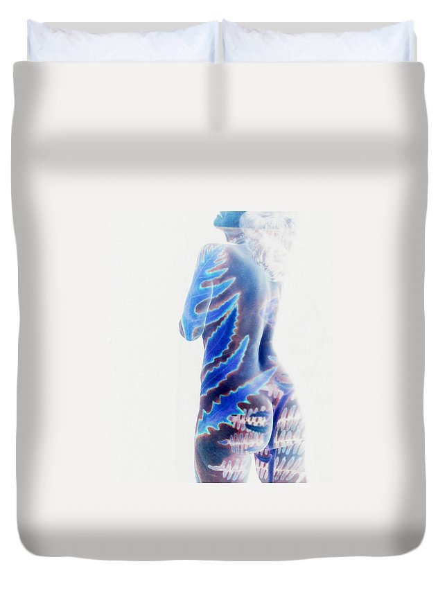 Nude Duvet Cover featuring the photograph b.1950A by Arla Patch