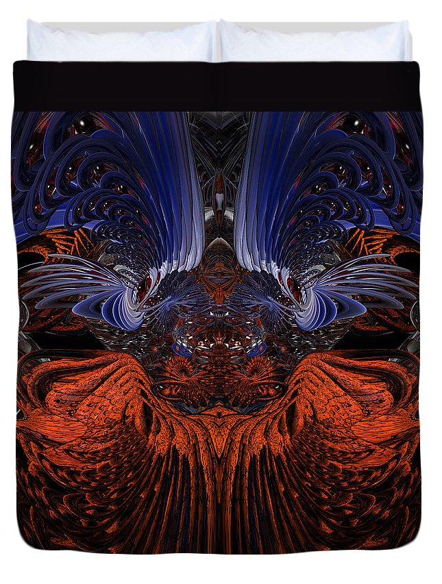 Canvas Duvet Cover featuring the photograph B7 Something From Below Fx by G Adam Orosco