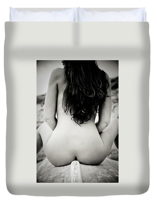 Nudes Duvet Cover featuring the photograph Back by Olivier De Rycke