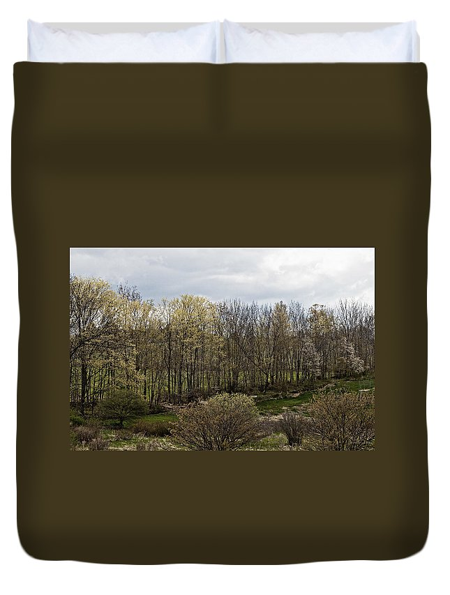 Pennsylvania Duvet Cover featuring the photograph Back Yard by Frank Morales Jr