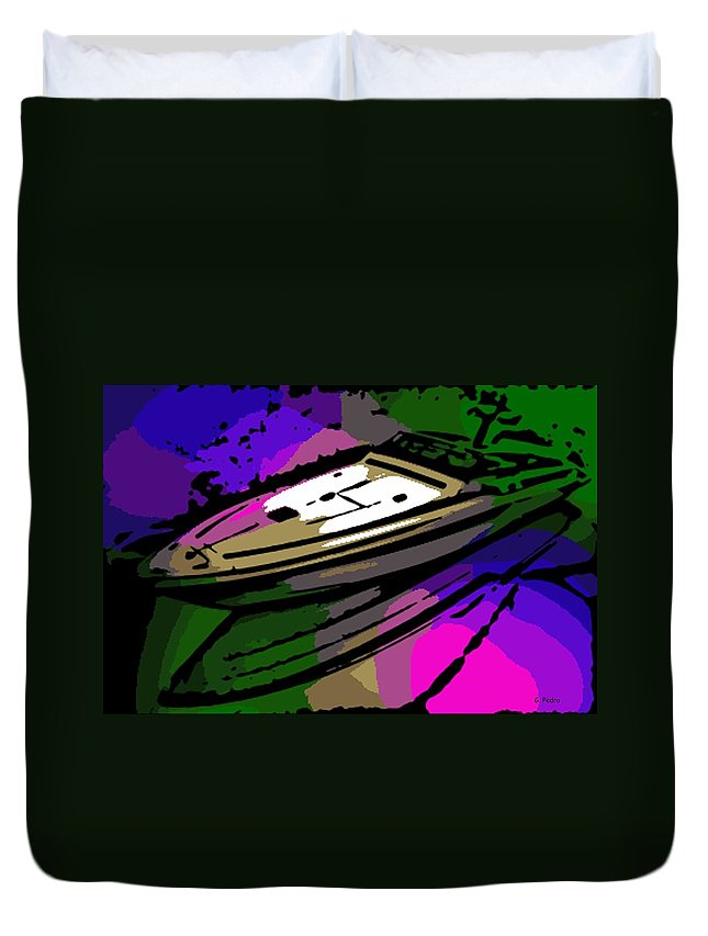 Baja Duvet Cover featuring the photograph Baja Speed Boat by George Pedro