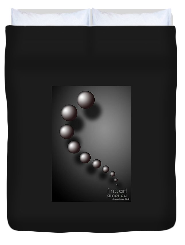 Sphere Duvet Cover featuring the digital art Balance Of The Mind by Elizabeth Harshman