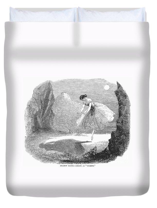 1843 Duvet Cover featuring the photograph Ballet: Ondine, 1843 by Granger