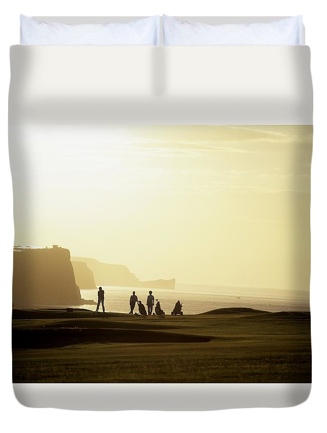 Outdoors Duvet Cover featuring the photograph Ballycastle Golf Club, Co Antrim by The Irish Image Collection
