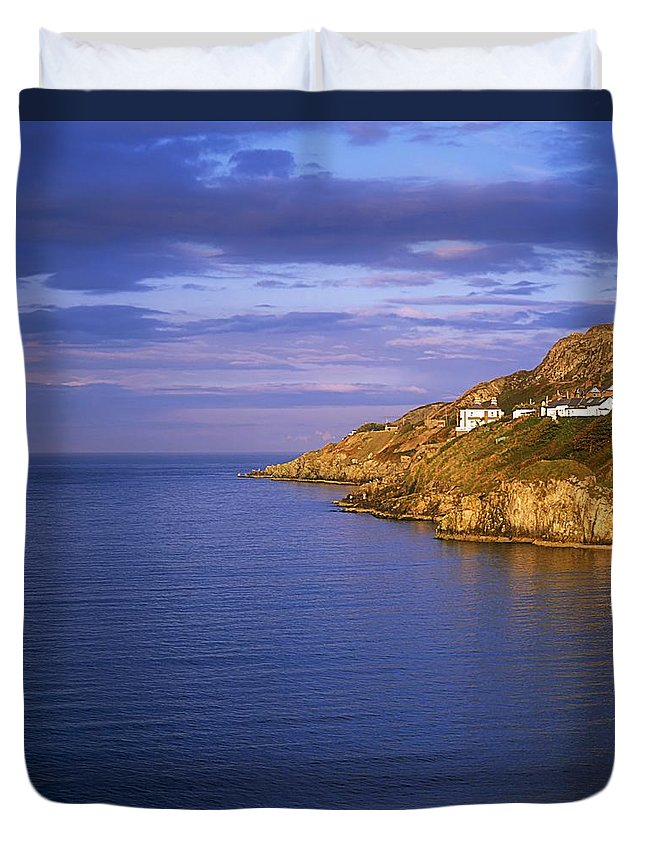 Blue Duvet Cover featuring the photograph Balscadden Bay, Co Dublin, Ireland by The Irish Image Collection