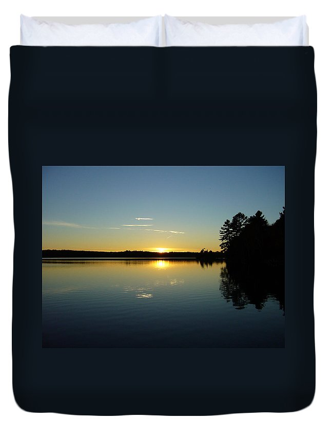 Band Duvet Cover featuring the photograph Band Of Gold by Shirley Radebach