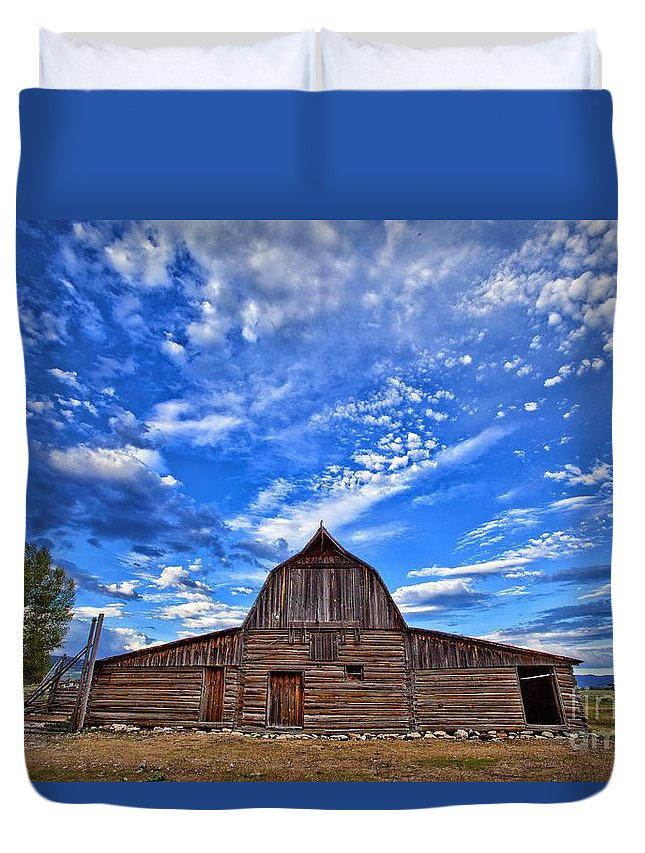 2012 Canvas Prints Duvet Cover featuring the photograph Barn And Clouds by Matt Suess